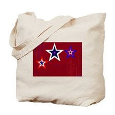 Cute Blue star service flag Tote Bag