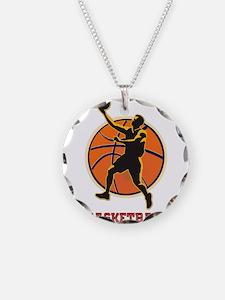 Basketball Logo with Layup Necklace