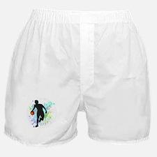 Basketball Player Dribbling Ball in C Boxer Shorts