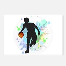 Basketball Player Dribbli Postcards (Package of 8)