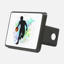 Basketball Player Dribblin Hitch Cover