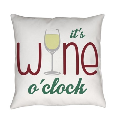 Wine O'clock Pillow