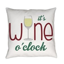 Wine OClock Everyday Pillow