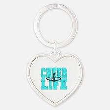 Cute Cheerleading Heart Keychain