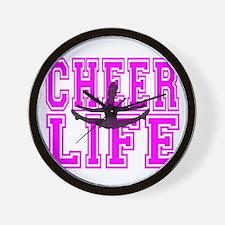 Pink Cheerleader Wall Clock