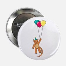 """Floating Party Cat 2.25"""" Button (10 pack)"""