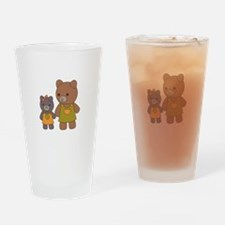 Teddy Bear Sisters Drinking Glass