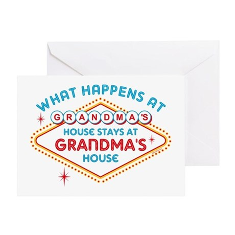 Las Vegas Stays At Grandma's Greeting Card