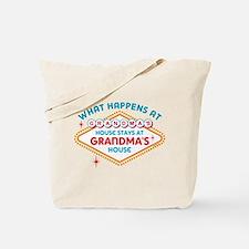 Las Vegas Stays At Grandma's Tote Bag
