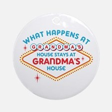 Las Vegas Stays At Grandma's Ornament (Round)