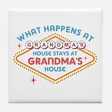 Las Vegas Stays At Grandma's Tile Coaster