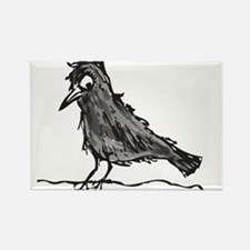 Angry Crow Painting Magnets