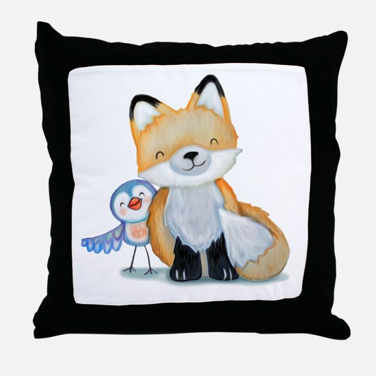 Unique Forest animals Throw Pillow
