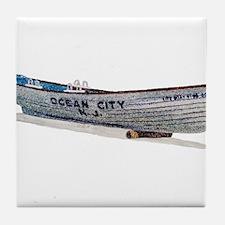 Funny Atlantic city Tile Coaster