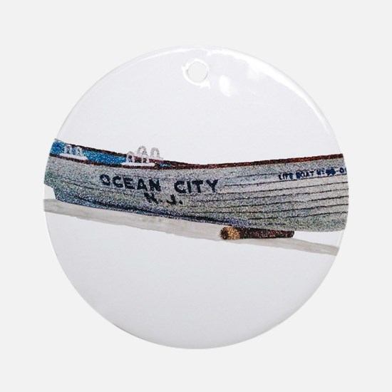 Funny New jersey artist Round Ornament