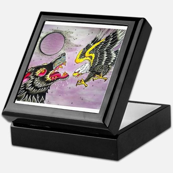Wolf and Eagle Keepsake Box