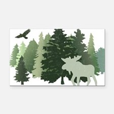 Funny Camping Rectangle Car Magnet