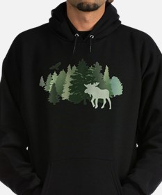 Moose in the Forest Hoodie