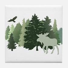 Moose in the Forest Tile Coaster
