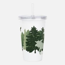 Moose in the Forest Acrylic Double-wall Tumbler