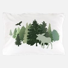 Moose in the Forest Pillow Case