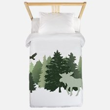 Moose in the Forest Twin Duvet