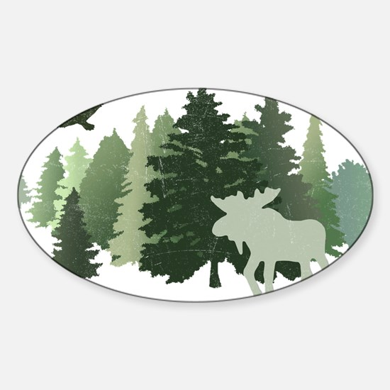 Moose in the Forest Decal
