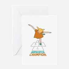 Hopscotch Champion Greeting Cards