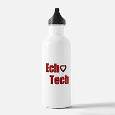 Ech(Heart) Red White Water Bottle