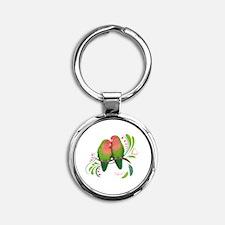 Cool Love Round Keychain