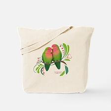 Cute Lovebirds Tote Bag