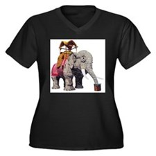 Glitter Lucy the Elephant Plus Size T-Shirt