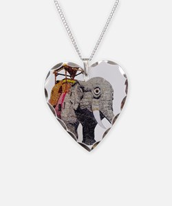 Glitter Lucy the Elephant Necklace