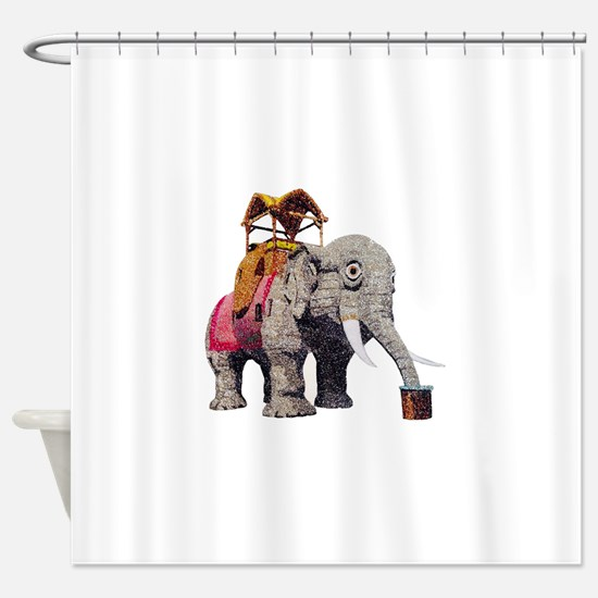 Glitter Lucy the Elephant Shower Curtain