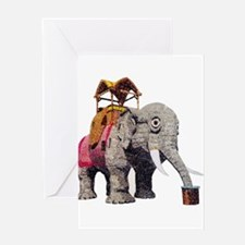 Glitter Lucy the Elephant Greeting Cards
