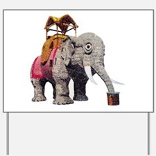 Glitter Lucy the Elephant Yard Sign
