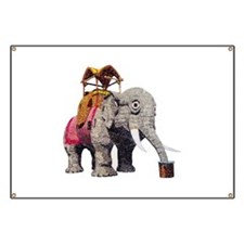 Glitter Lucy the Elephant Banner