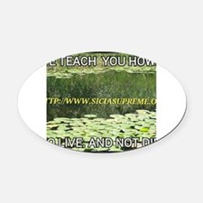 Cute Live love teach Oval Car Magnet