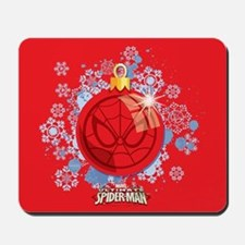 Holiday Spider-Man Ornament Mousepad