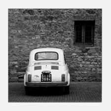 Old Fiat 500 in Tuscany Tile Coaster