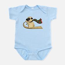 Sledding Pug Infant Body Suit