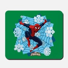 Holiday Spider-Man Web Mousepad
