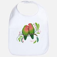 Peach Faced Lovebirds Bib