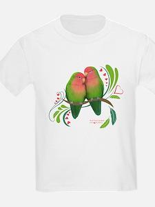 Peach Faced Lovebirds T-Shirt