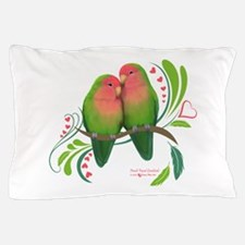 Peach Faced Lovebirds Pillow Case