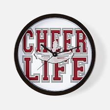 Red Cheerleader Wall Clock