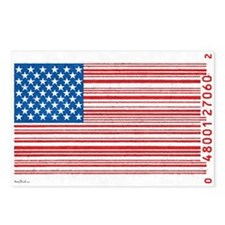 Barcode Flag Postcards (Package of 8)