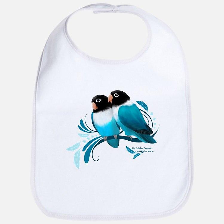 Blue Masked Lovebirds Bib