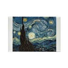 Funny Van gogh starry night Rectangle Magnet