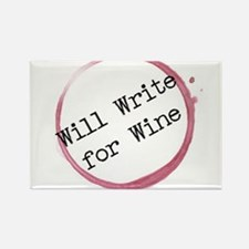 Will Write For Wine Rectangle Magnet